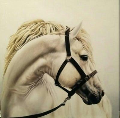 Картина «Белая лошадь»