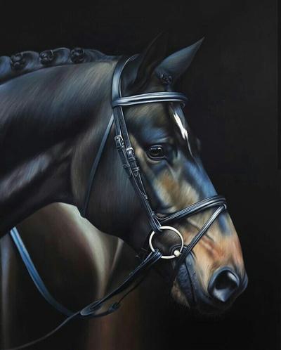Картина «Черная лошадь»