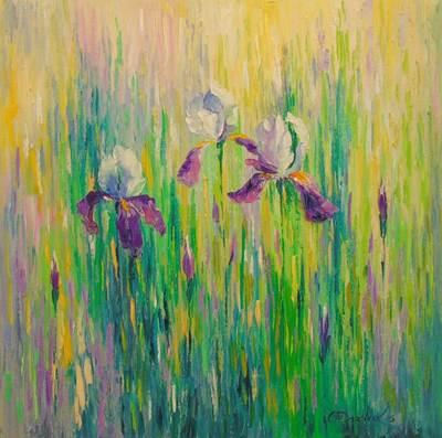 Картина «Ирисы в поле»
