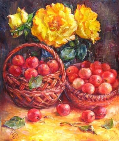 Картина «Райские яблоки»