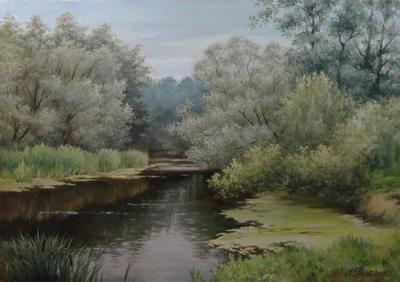 Картина «Тихая речка»