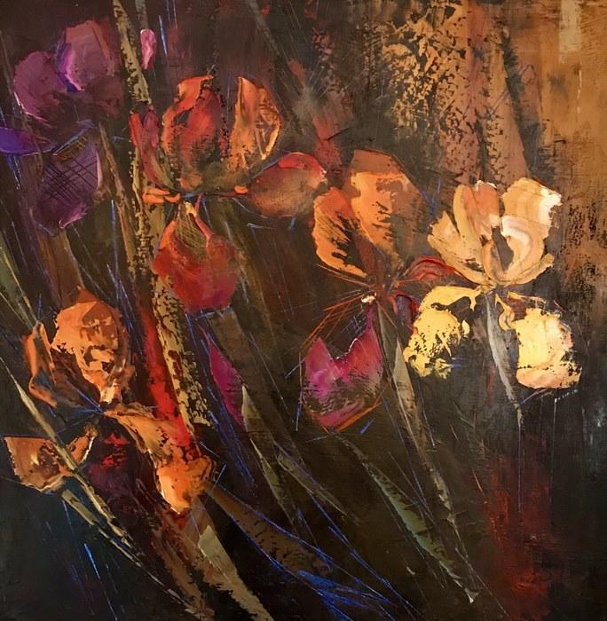 Картины в стиле абстракция в интерьере цвет