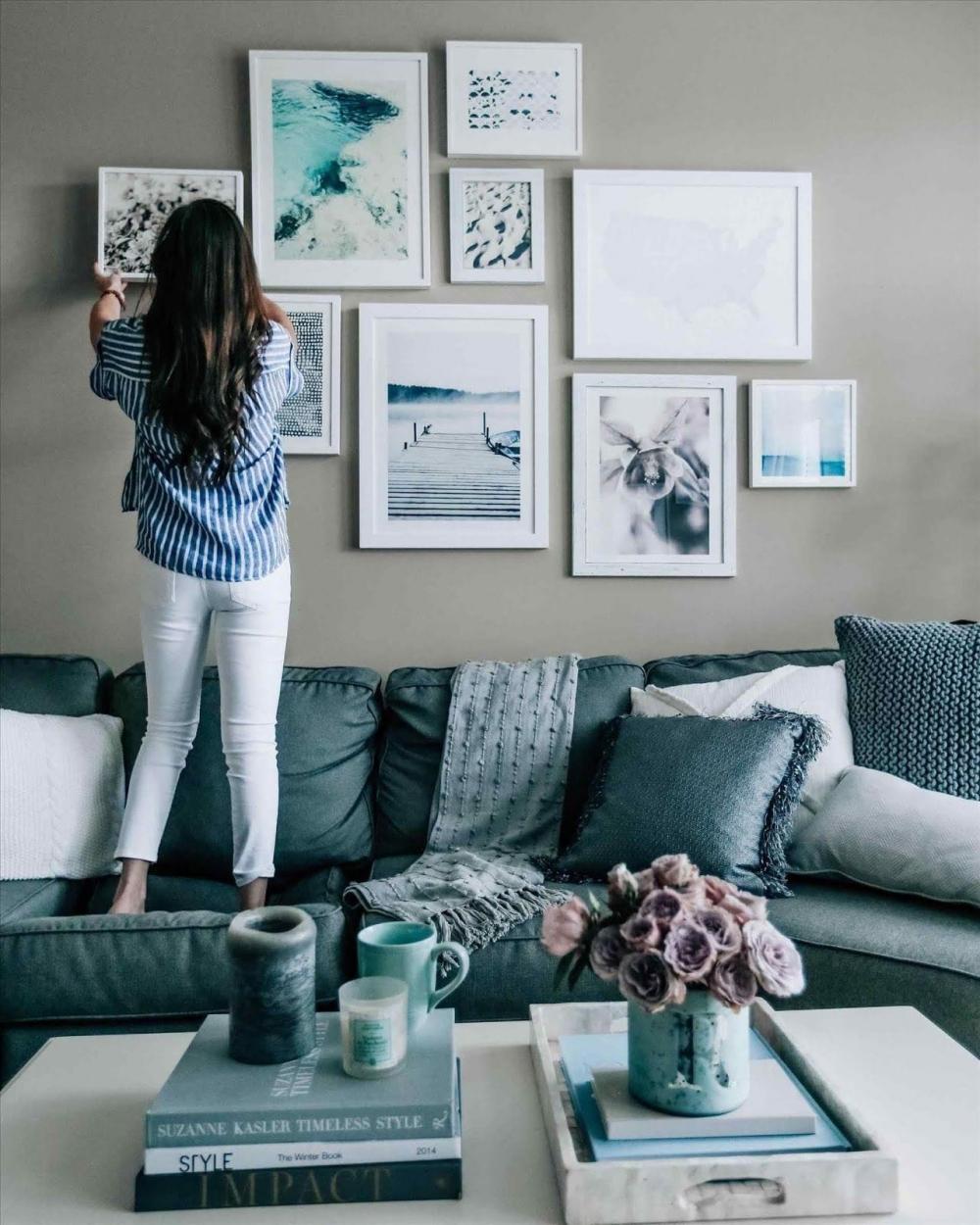 Декор картинами стен – варианты на все случаи жизни