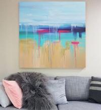Картина «Лазурный берег» в интерьере