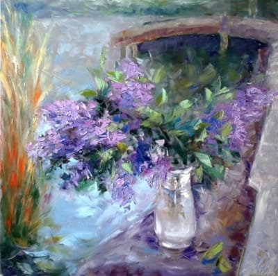 Картина «Сирень-разноцветье весеннего вкуса»