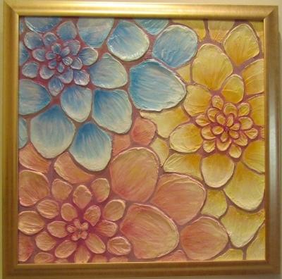 Картина Цветы в солнечный день