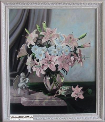 Красивая картина цветы ЛИЛИИ