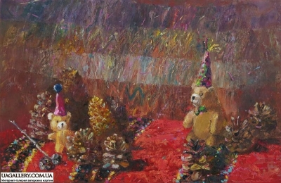 Картина для декора детской комнаты «Прятки»