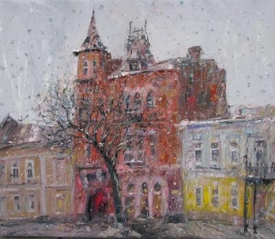 Картина пейзаж Киева «Замок барона»