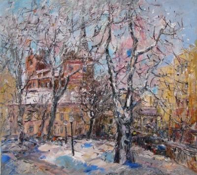 Картины городской пейзаж Киева «Ярославов Вал»