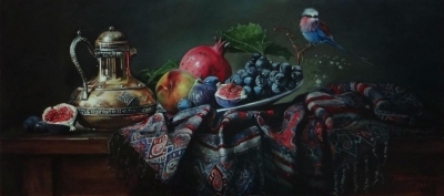 Картина «Натюрморт с птичкой»