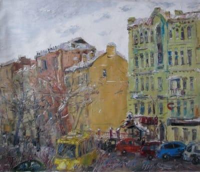 Картины городкого пейзажа Киева «Киев зимой»