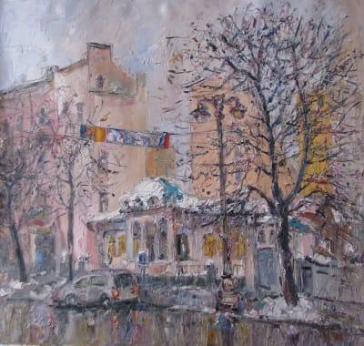 Картина городского пейзажа Киева
