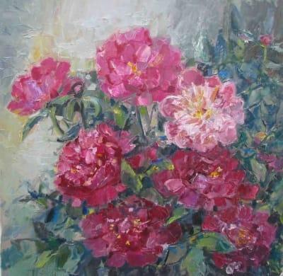 Картина цветы «ПИОНЫ»