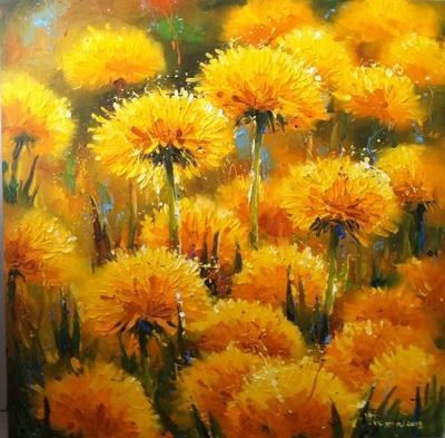 Картина «Цветы солнца. Одуванчики»
