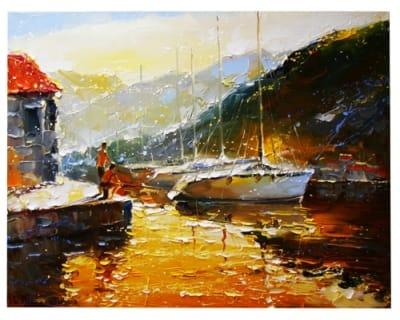 Картина морской пейзаж «Рыбак»