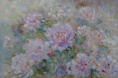 Картина «Очарование розовых пионов»