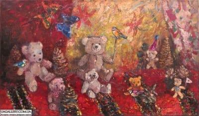 Картина «Игра мишек»