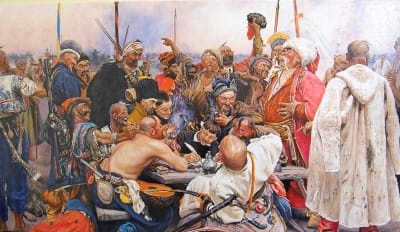 Картина «Запорожцы пишут письмо турецкому султану» копия И.Репина