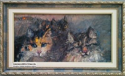 Картина «Три кота. Вечер»