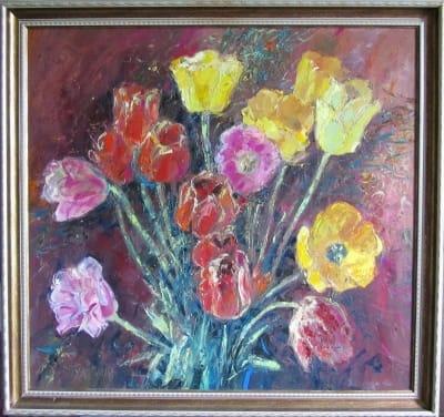 Картина цветы «Тюльпаны»