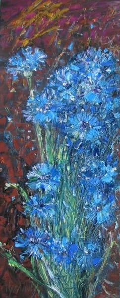 Картина цветы «Васильки»