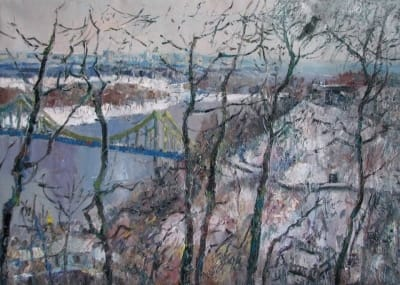 Картина «Зимний пейзаж Киева»