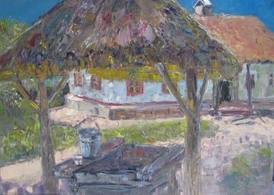 Картина пейзаж «Пирогово. Колодец»