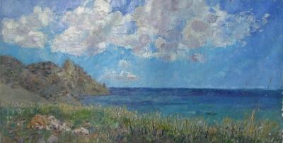 Картина маслом «Море»