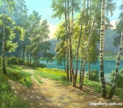 Картина «Летний пейзаж. Березы»