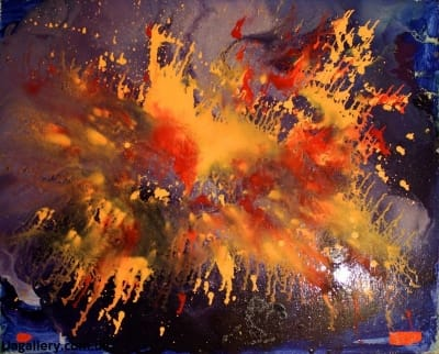 Абстрактная картина «Параллельная реальность. Оранжевый»