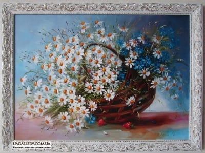 Картина цветы «Ромашки»