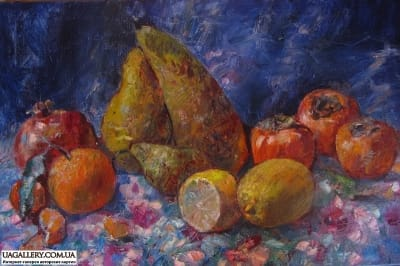 Картина натюрморт «Зимние фрукты»