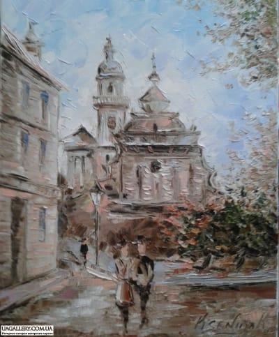 Картина «Городской пейзаж» часть 1
