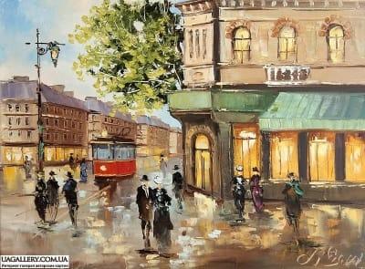 Картина «Прогулка вечерним городом»