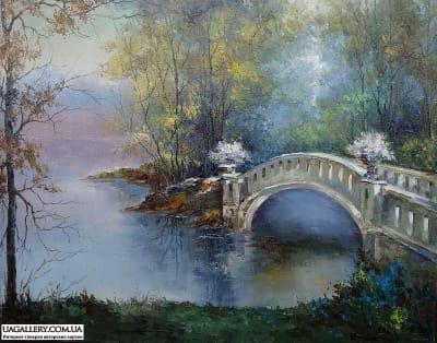 Картина пейзаж «Осеннее утро»