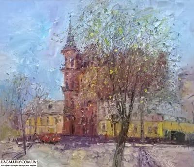 Картина «Киевский пейзаж. Замок Барона»