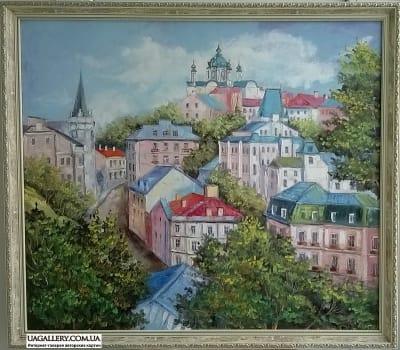 Картина «Киевский пейзаж. Андреевский спуск»