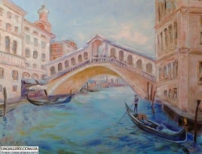 Картина «Городской пейзаж Италии. Мост Риальто»