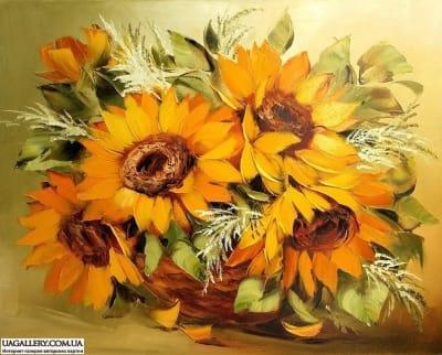 Картина «Подсолнухи - солнце в каждом лепестке»