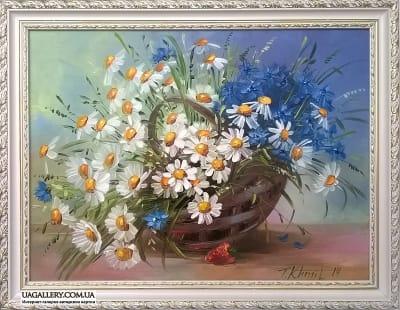 Картина «Ромашки и васильки»