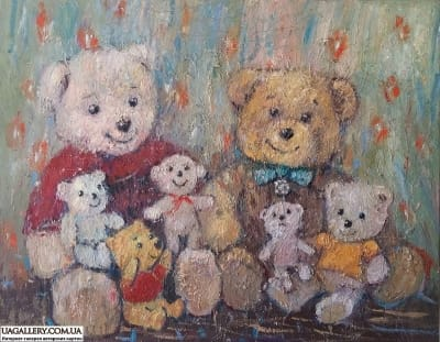 Картина «Мишки. В гостях у Винни Пуха»