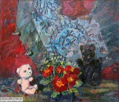 Картина «Мишки. Аленький цветочек»