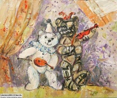 Картина «Мишки: Арлекин и Пьеро»