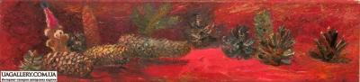 Картина «Мишка и шишки»