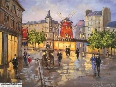 Картина «Париж. Мулен Руж №1»