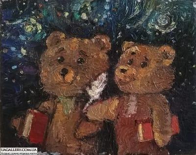 Картина «Мишки идут в школу»