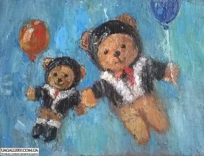 Картина «Мишки. Друзья»