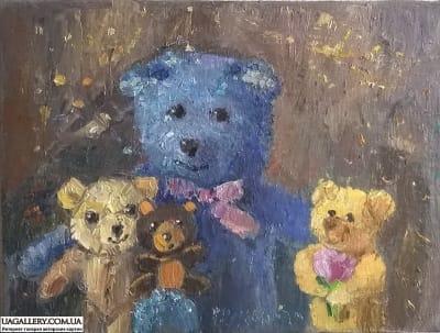 Картина «Мишки. Гости»