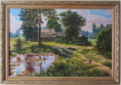 Картина «Украинское лето в деревне»